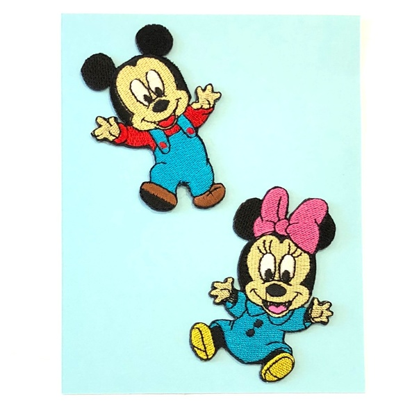 Minnie Mouse Embroidered Iron On Patch Baby shower Baby